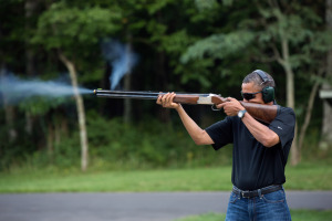 Obama Shoots (official White House photo)