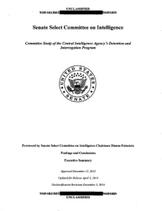 CIA Torture Report (Cover)