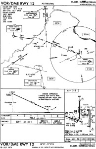 Runway 12 VOR/DME Chart (from the NTSB report)