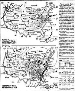 Weather (New York Times, Dec. 1, 1974)